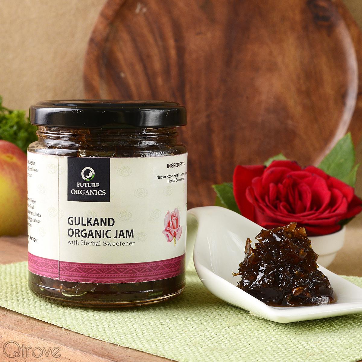 Gulkand Organic with Herbal Sweetener