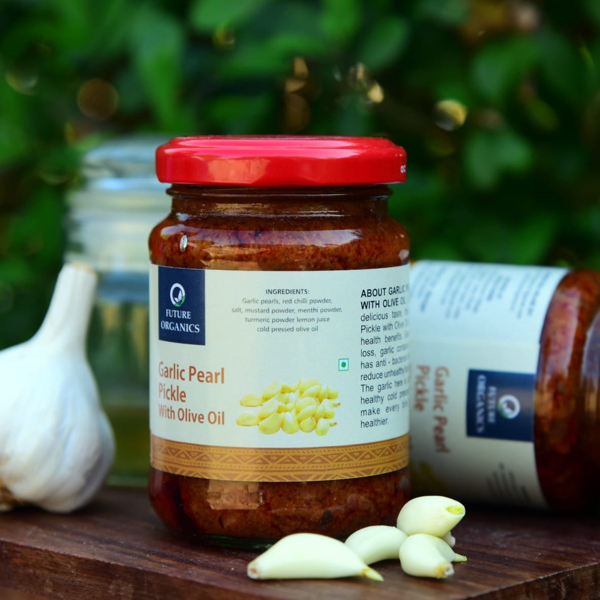 Garlic Pearl Pickle – With Olive Oil(set of 2)