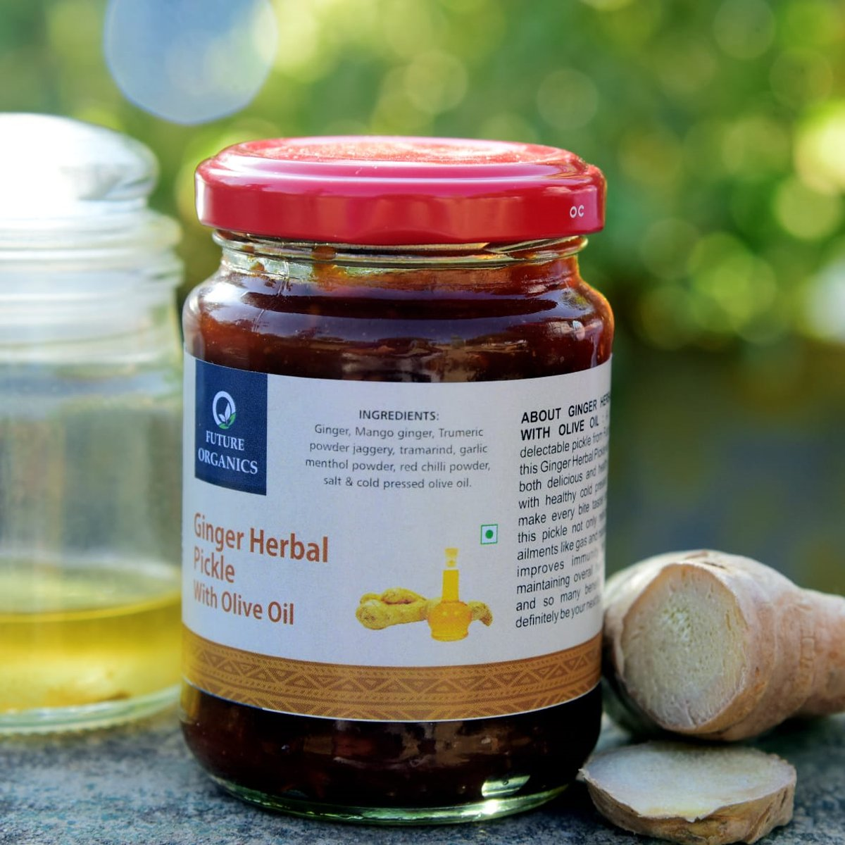 Ginger Herbal Pickle With Olive Oil(set of 2)