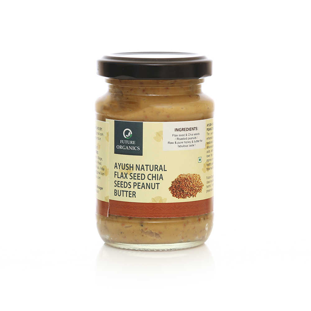 Ayush Natural Flax seed Chiaseeds Peanutbutter